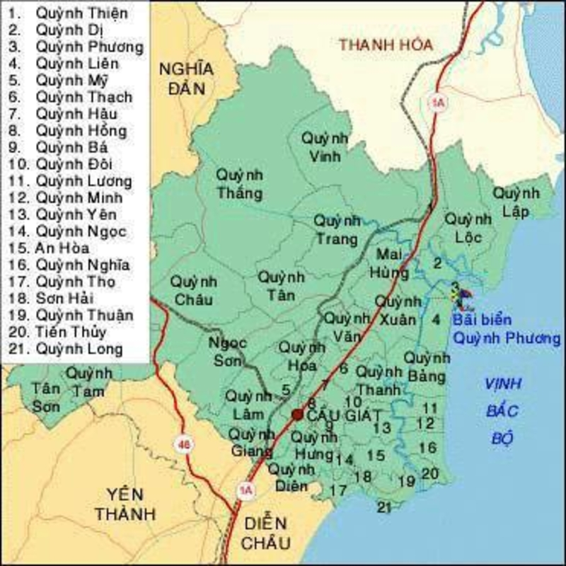 Lịch sử hình thành huyện Quỳnh Lưu, tỉnh Nghệ An